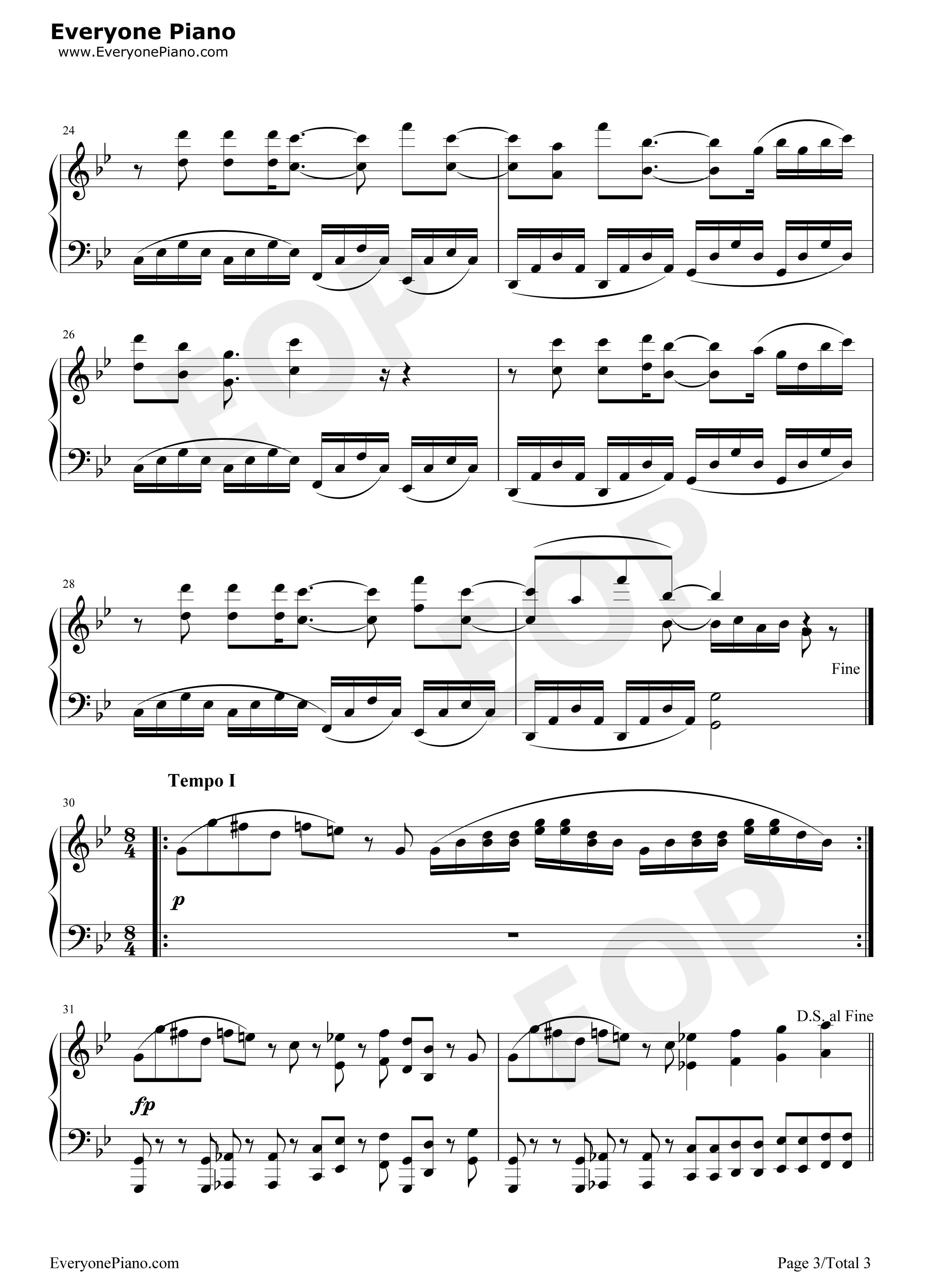 Free plants vs zombies bgm piano sheet music preview