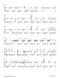 时间煮雨-小时代宣传曲钢琴谱档(五线谱,双手简谱,数图片