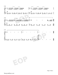 Dream Wedding-Simple Version-Numbered-Musical-Notation-Preview-2