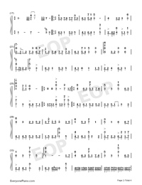 Cape No 7-Numbered-Musical-Notation-Preview-2