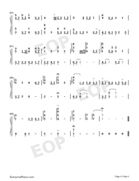 Cape No 7-Numbered-Musical-Notation-Preview-4