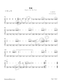 Regret for the Past-Numbered-Musical-Notation-Preview-1