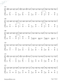 Red Maple Time and Again Numbered Musical Notation Preview 2