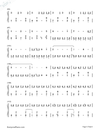 Red Maple Time and Again Numbered Musical Notation Preview 5