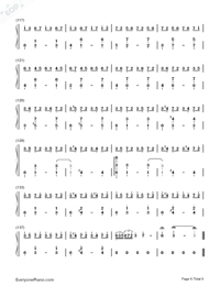 Red Maple Time and Again Numbered Musical Notation Preview 6