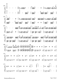 Longing/Love - George Winston Numbered Musical Notation Preview 3