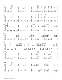 Longing/Love - George Winston Numbered Musical Notation Preview 4