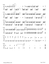 Longing/Love - George Winston Numbered Musical Notation Preview 5