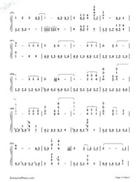 Eyes on Me - Final Fantasy VIII ED-Numbered-Musical-Notation-Preview-3
