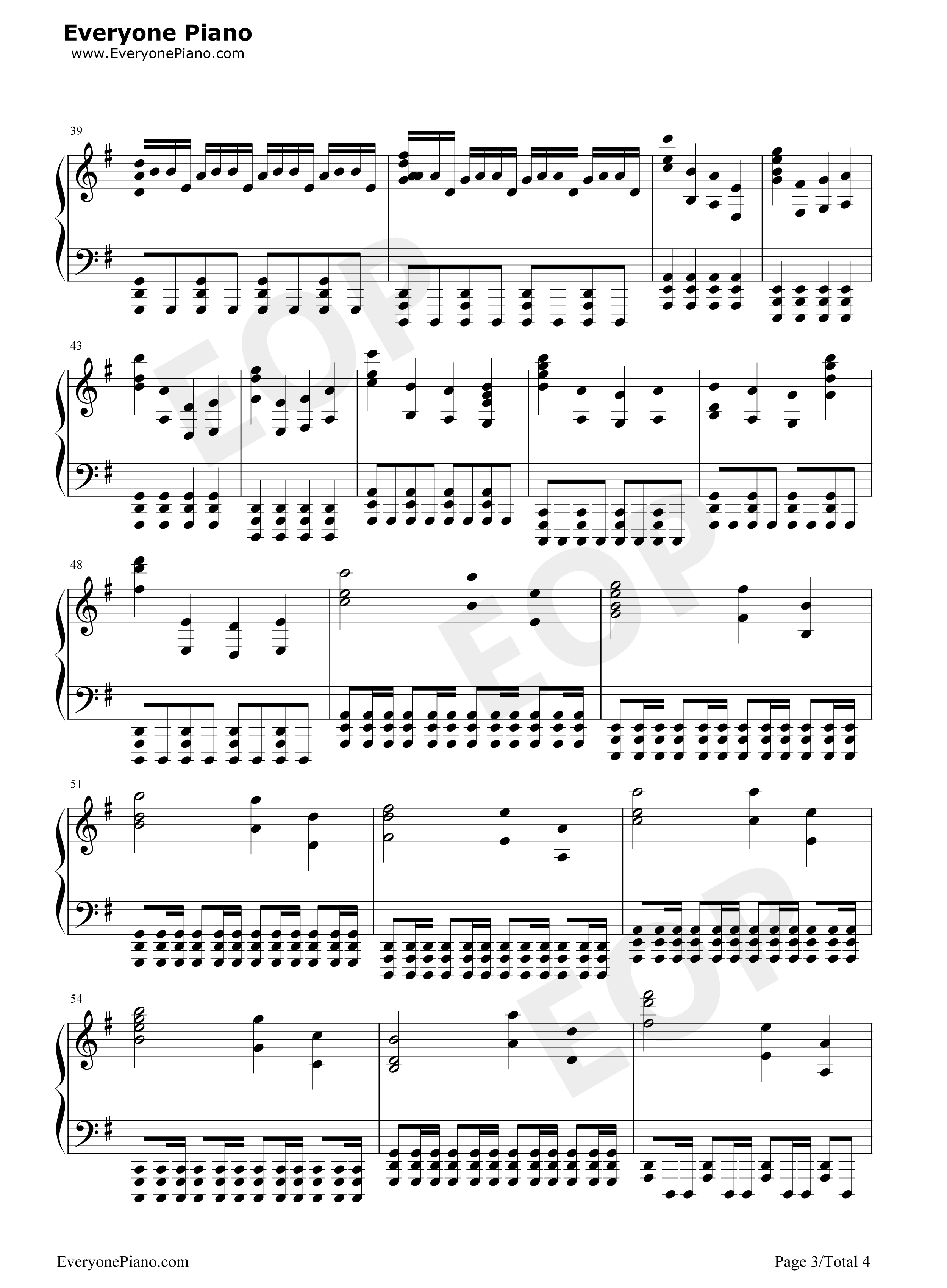 Inception OST Stave Preview 3- Free Piano Sheet