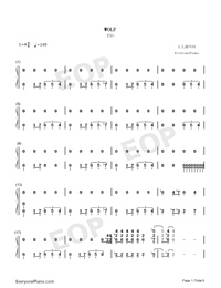 Wolf-EXO-Numbered-Musical-Notation-Preview-1