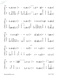 You Raise Me Up-Westlife Numbered Musical Notation Preview 2