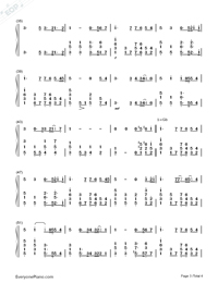 You Raise Me Up-Westlife Numbered Musical Notation Preview 3