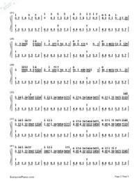 カノン ハ長調ー強弱付け版両手略譜プレビュー2