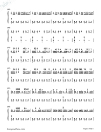 カノン ハ長調ー強弱付け版両手略譜プレビュー3
