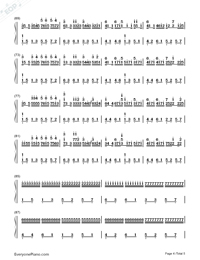 Canon in C Major-Dynamic Version-Numbered-Musical-Notation-Preview-4