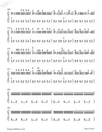 カノン ハ長調ー強弱付け版両手略譜プレビュー4