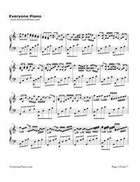 カノン ハ長調ー強弱付け版五線譜プレビュー2