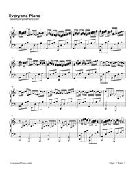 カノン ハ長調ー強弱付け版五線譜プレビュー3