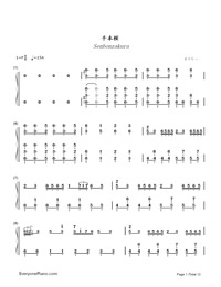 Senbonzakura-Marasy-Dynamic Version-Numbered-Musical-Notation-Preview-1