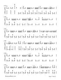 Senbonzakura-Marasy-Dynamic Version-Numbered-Musical-Notation-Preview-11