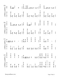 Senbonzakura-Marasy-Dynamic Version-Numbered-Musical-Notation-Preview-3