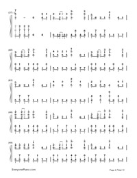 Senbonzakura-Marasy-Dynamic Version-Numbered-Musical-Notation-Preview-4