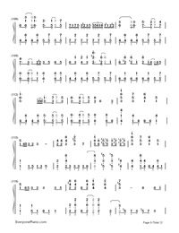 Senbonzakura-Marasy-Dynamic Version-Numbered-Musical-Notation-Preview-9