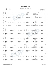 Melody Of The Night 29-Numbered-Musical-Notation-Preview-1