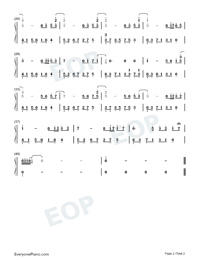 Melody Of The Night 29-Numbered-Musical-Notation-Preview-2