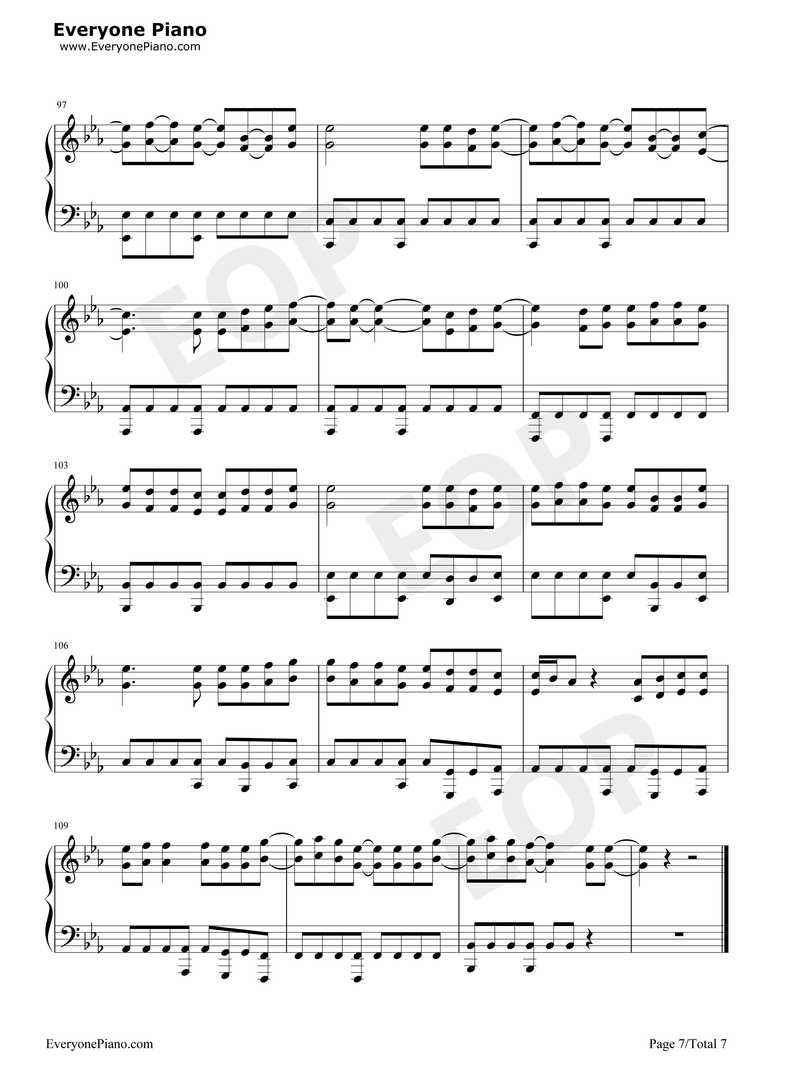 Peter pan exo stave preview 7 free piano sheet music piano chords listen now print sheet peter pan exo stave preview 7 hexwebz Images