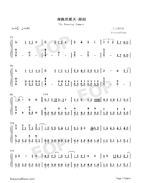 The Running Summer-Numbered-Musical-Notation-Preview-1