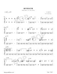 Sunflowers in the Rain-Numbered-Musical-Notation-Preview-1