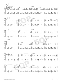 Sunflowers in the Rain-Numbered-Musical-Notation-Preview-2