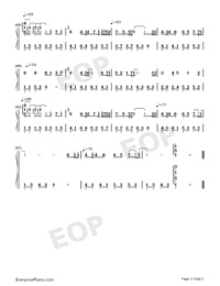 Sunflowers in the Rain-Numbered-Musical-Notation-Preview-3