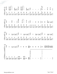 Fuwa Fuwa Time - K-On! OST Numbered Musical Notation Preview 3