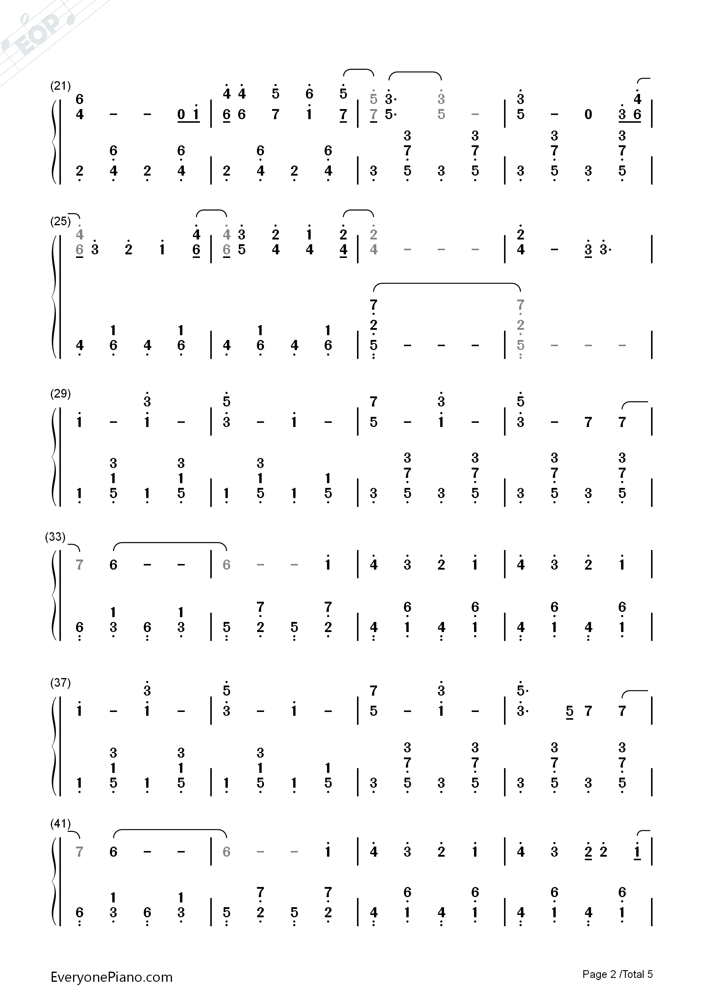 Count on me bruno mars numbered musical notation preview 2 free listen now print sheet count on me bruno mars numbered musical notation preview 2 hexwebz Image collections