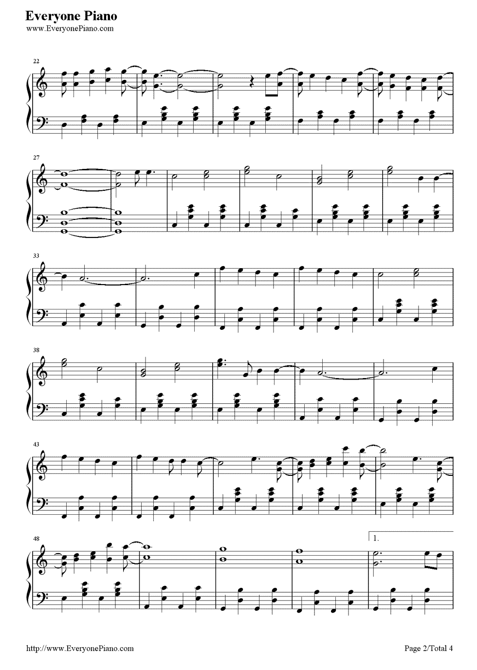 Count on me bruno mars stave preview 2 free piano sheet music listen now print sheet count on me bruno mars stave preview 2 hexwebz Image collections