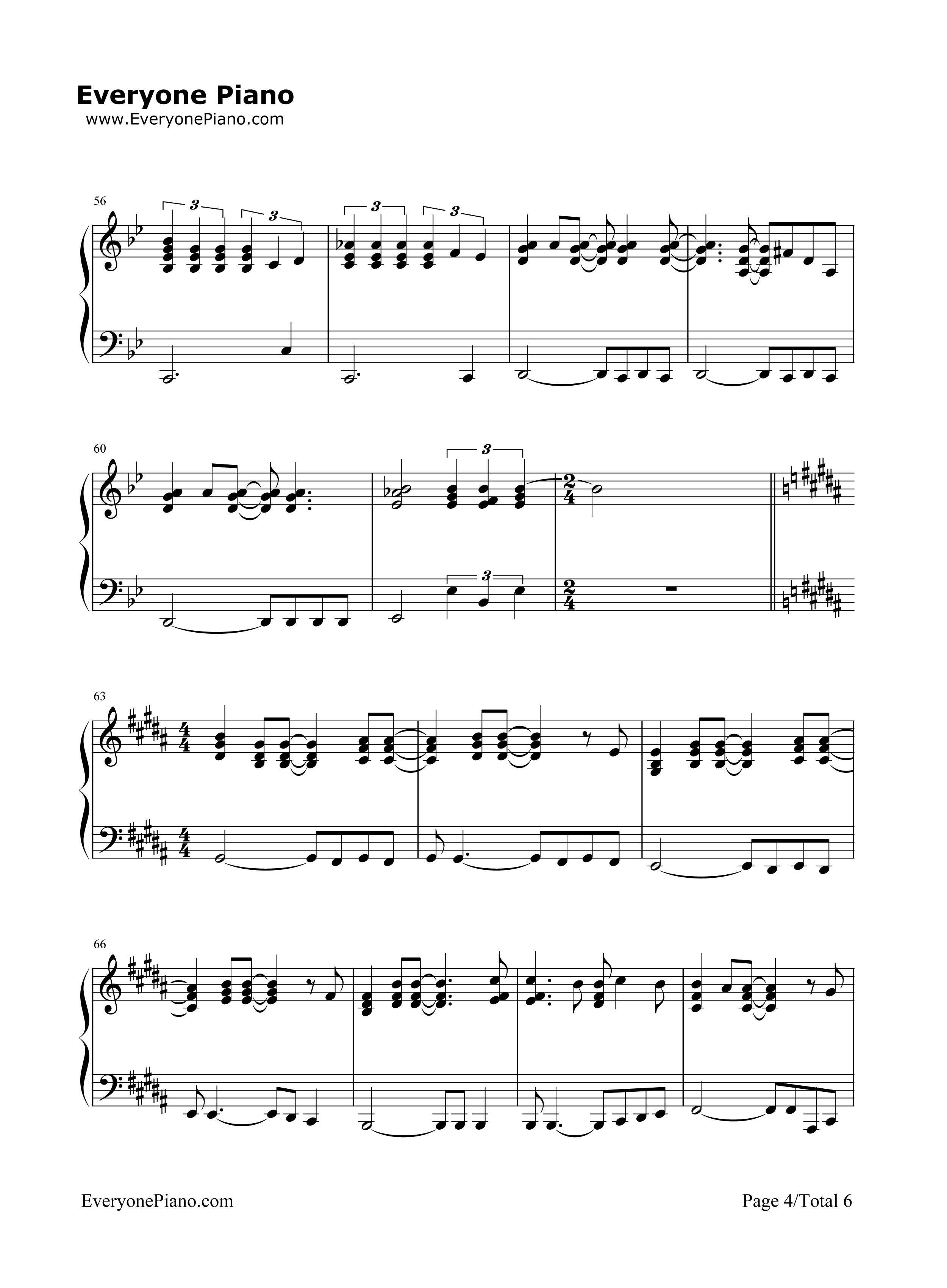 I surrender cline dion stave preview 4 free piano sheet music listen now print sheet i surrender cline dion stave preview 4 hexwebz Images