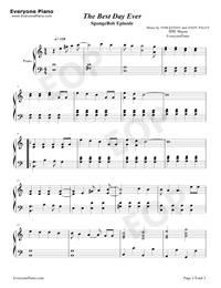 best day ever sheet music pdf