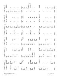 Uta ni Katachi wa Nai Keredo - Hatsune Miku-Numbered-Musical-Notation-Preview-2