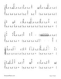 Uta ni Katachi wa Nai Keredo - Hatsune Miku-Numbered-Musical-Notation-Preview-3