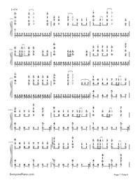 Uta ni Katachi wa Nai Keredo - Hatsune Miku-Numbered-Musical-Notation-Preview-7