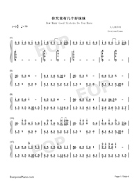 How Many Good Sisters Do You Have-Numbered-Musical-Notation-Preview-1
