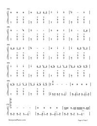 Noushou Sakuretsu Girl -脳漿炸裂ガー-Numbered-Musical-Notation-Preview-4
