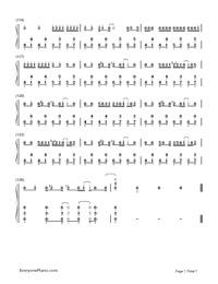 Noushou Sakuretsu Girl -脳漿炸裂ガー-Numbered-Musical-Notation-Preview-7