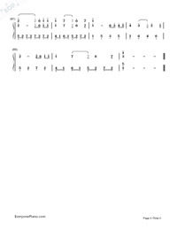TRISTE COEUR-Richard Clayderman Numbered Musical Notation Preview 4
