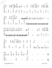 LA VIE EN ROSE - Richard Clayderman-Numbered-Musical-Notation-Preview-3
