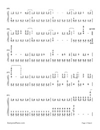 Grenade - Bruno Mars Numbered Musical Notation Preview 3
