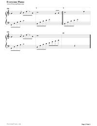女兒情簡單版-西遊記插曲五線譜預覽2